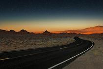 Road of Fire - Night by Anja Heid