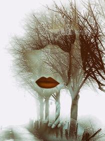 Red lips, dessous and autumn von Gabi Hampe