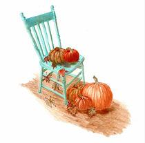 Pumpkin Fall Scene by Linda Ginn