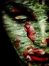 Red lips and poppy by Gabi Hampe