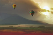 Hot Air Balloons At Sunset by tomyork