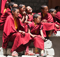 Laughing Ladakhi monks by studio-octavio