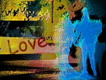 A blue couple and love von Gabi Hampe