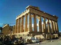 Der Parthenon auf der Akropolis in Athen by Sabine Radtke