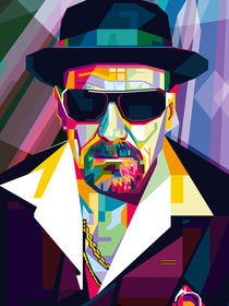 Ultimate Gangster Pop Art Contemporary artist Conqr Breaking heisenberg von Unpublic Artists