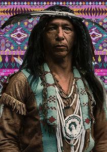 Arrowmaker an Ojibwa brave Indian collage von Vincent Monozlay