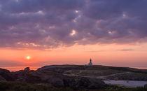 Leuchtturm im Sonnenuntergang by Christine Baumgartner