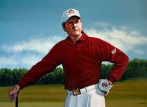 Gary Player painting by Paul Meijering
