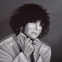 Elizabeth Taylor painting by Paul Meijering