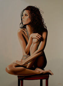 Eva Longoria painting by Paul Meijering
