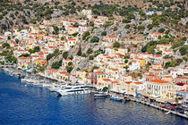 The port of Symi, Greece by Constantinos Iliopoulos