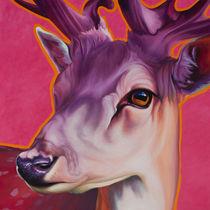 Hirsch Felix pink by Renate Berghaus