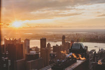 Sonnenuntergang in New York City von Franziska Molina