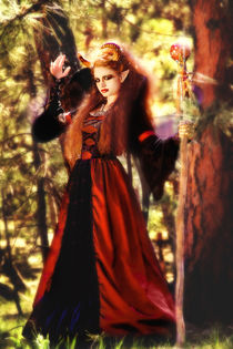 Maleficent-glowing-in-forest