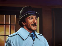 Peter Sellers as inspector Clouseau painting by Paul Meijering