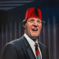 Tommy Cooper painting by Paul Meijering