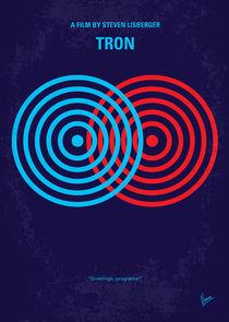 No357 My TRON minimal movie poster by chungkong