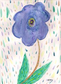 Floral In Rain von Denise Davis
