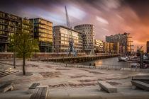 Sonnenuntergang in der Hafen-City von Martin Büchler