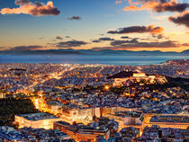 Athens after sunset, Greece by Constantinos Iliopoulos
