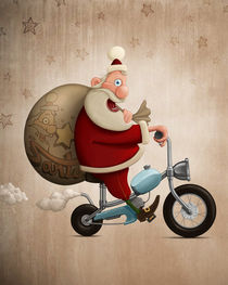 'Santa Claus motorcycle delivery' by Giordano Aita