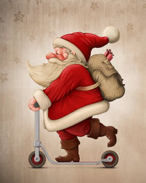 'Santa Claus and the Push scooter' by Giordano Aita