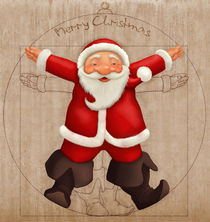 Vitruvian Santa Claus by Giordano Aita
