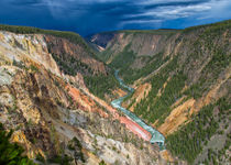 Storm Over The Yellowstone Canyon by John Bailey