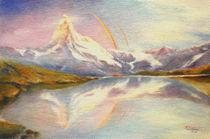 Matterhorn mit Regenbogen - Schweizer Berglandschaft by Marita Zacharias