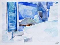 Santorini Island - drawing VIII by Iva Ivanova