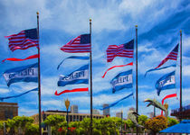 Flags At Pier 39 by John Bailey