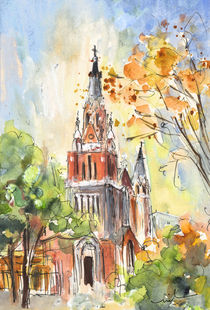 A Church In Our Street In Budapest by Miki de Goodaboom
