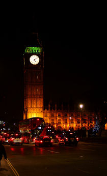 Nachts am Big Ben  by Bastian  Kienitz