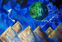 pyramiden mit planet von Edmond Marinkovic