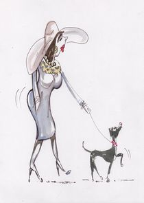 Madam walks the dog by terrydonnelly