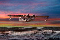 Consolidated PBY-5A at Sunset (US Navy Version) by Steve H Clark Photography