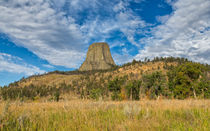 Gazing Upon Devils Tower by John Bailey