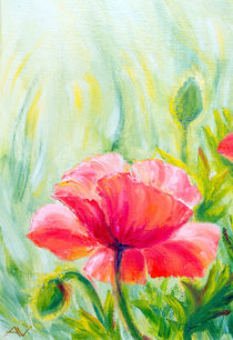 Poppies, oil painting on canvas von valenty