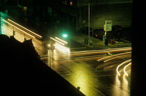 Intersection at night by Jim Corwin