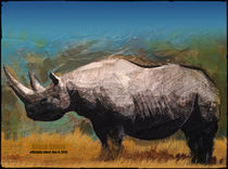 Black Rhino (Extinction Series) by Mark Wagner