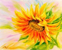 Sunflower, oil painting on canvas von valenty