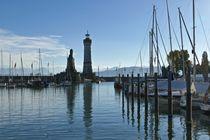 Hafeneinfahrt von Lindau von Monika Haarpaintner