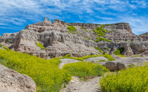 Hiking In The Badlands by John Bailey