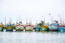 Colorful fishing boats by Christina Rahm