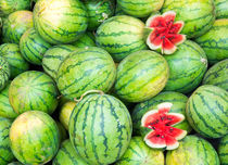 Fresh watermelons by Christina Rahm