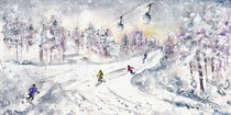 Skiing In The Dolomites In Italy 01 von Miki de Goodaboom