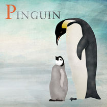 ABC Poster - P Pinguin by Gaby Jungkeit