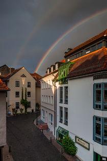 Doppelter Regenbogen - hochkant by Erhard Hess