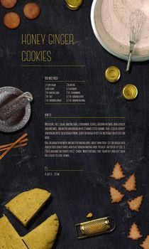 Honey Ginger Cookies by Egle Beliunaite