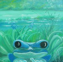 Blauer Frosch von Barbara Kaiser